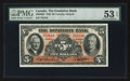 Canadian Currency: , Toronto, ON- The Dominion Bank $5 Jan. 3, 1938 Ch # 220-28-02. ...