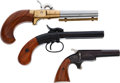 Handguns:Muzzle loading, Lot of Three Modern Replica Muzzle Loading Pistols.... (Total: 3 Items)
