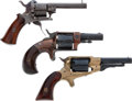 Handguns:Single Action Revolver, Lot of Three Pocket Revolvers.... (Total: 3 Items)