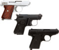 Handguns:Semiautomatic Pistol, Lot of Three Small Semi-Automatic in The Original Manufacturer'sBoxes.... (Total: 3 Items)