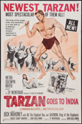 "Movie Posters:Adventure, Tarzan Goes to India (MGM, 1962). One Sheet (27"" X 41"").Adventure.. ..."