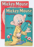 Golden Age (1938-1955):Cartoon Character, Mickey Mouse Magazine V3#9 and V4#5 Group (K. K. Publications/Western Publishing Co., 1938-39).... (Total: 2 Comic Books)