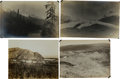 Photography:Cabinet Photos, [Alaska Gold Mining]. Lot of Four Original Photographs of GoldMining Operations and Scenery Near Fairbanks.... (Total: 4 Items)