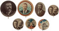 Political:Pinback Buttons (1896-present), Theodore Roosevelt: Seven Campaign Buttons.... (Total: 7 Items)