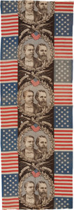 Political:Textile Display (pre-1896), Hancock & English: Large Swatch of Jugate Bunting....