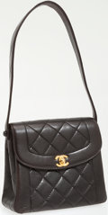 Luxury Accessories:Bags, Chanel Black Lambskin Leather Turnlock Small Tote Bag. ...