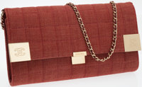 Chanel Red Denim Neo Flap Bag with Chain Shoulder Strap