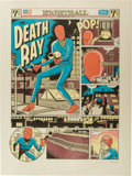 Memorabilia:Comic-Related, Daniel Clowes The Death Ray Limited Edition Lithograph Print#3/100 (Drawn and Quarterly, 2003)....