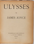 Books:Literature 1900-up, James Joyce. Ulysses. Shakespeare and Company, 1924. Fourthprinting. Half leather with rubbing and cracking joints....