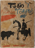 Books:Art & Architecture, Pablo Picasso. Toros y Toreros. Editions Cercle d'Art, 1962. Second edition. Wear and soiling to cloth, lacking spin...