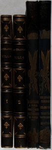 Books:Literature Pre-1900, Illustrated French Books]. Group of Two Titles in Four Volumes. Various, 1842-1846. Rubbing to bindings. Illustrated. Good o... (Total: 4 Items)