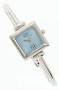 Luxury Accessories:Accessories, Gucci Stainless Steel 1900L Wrist Watch with Light Blue Dial. ...