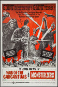 "Movie Posters:Science Fiction, War of the Gargantuas/Monster Zero Combo (UPA, 1966). One Sheet (27"" X 41""). Science Fiction.. ..."