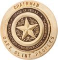Political:Ribbons & Badges, Badge Belonging to Texas Ranger Captain Clint Peoples Chairman of Texas Ranger Commemorative Commission....