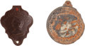 Militaria:Insignia, Civil War Two Piece Kearney ID Disc Excavated At Brandy Station for Peter Gorman 2nd Regt. NY Fire Zouaves, 73rd New York Inf....