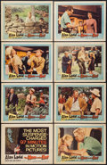 "Movie Posters:Mystery, The Man in the Net (United Artists, 1959). Lobby Card Set of 8 (11""X 14""). Mystery.. ... (Total: 8 Items)"