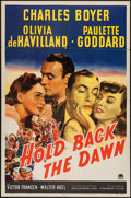 "Movie Posters:Romance, Hold Back the Dawn (Paramount, 1941). One Sheet (27"" X 41""). Romance.. ..."