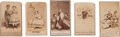 Photography:CDVs, Group of Five Carte-De-Visite Views of the 'Slave Children From New Orleans'.... (Total: 5 Items)