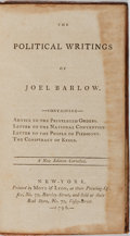 Books:Americana & American History, Joel Barlow. The Political Writings. Mott & Lyon, 1796.Contemporary leather with light rubbing. Hinges cracked....