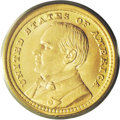 Commemorative Gold: , 1903 G$1 Louisiana Purchase/McKinley MS67 PCGS. This glitteringSuperb Gem boasts pumpkin-gold surfaces on both sides, acce...