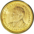 Commemorative Gold: , 1905 G$1 Lewis and Clark MS65 PCGS. Although Lewis and Clark golddollars are not uncommon in lower Mint State grades, in s...