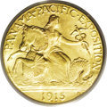 Commemorative Gold: , 1915-S $2 1/2 Panama-Pacific Quarter Eagle MS65 PCGS. A fullylustrous almond-gold Gem. The devices are intricately brought...