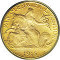 Commemorative Gold: , 1915-S $2 1/2 Panama-Pacific Quarter Eagle MS66 PCGS. Anotherscarce and high-end commemorative coin from the Wiseman Colle...