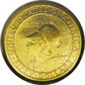 Commemorative Gold: , 1915-S $50 Panama-Pacific 50 Dollar Round AU58 PCGS. The round andoctagonal examples of this large gold coin in the presen...