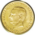 Commemorative Gold: , 1916 G$1 McKinley MS66 PCGS. Twice as many examples of the 1916McKinley were made as of the 1917 issue--20,000 pieces vers...