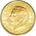Commemorative Gold: , 1917 G$1 McKinley MS65 PCGS. By a considerable margin the mostdifficult of the two McKinley issues in Gem condition, this ...
