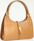 Luxury Accessories:Bags, Gucci Light Brown Leather Bardot Shoulder Bag. ...