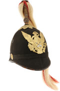 Military & Patriotic:Indian Wars, Model 1881 New York Spike Helmet With Indian Scout Insignia...