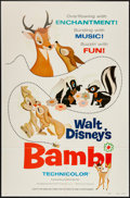 """Movie Posters:Animation, Bambi (Buena Vista, R-1975). One Sheet (27"""" X 41"""") Style A.Animation.. ..."""