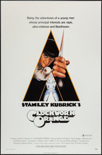 "A Clockwork Orange (Warner Brothers, 1971). One Sheet (27"" X 41"") X Rated Style. Science Fiction"