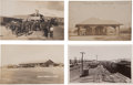 Western Expansion:Goldrush, Real Photo Postcards: Four California Railroad Train DepotScenes.... (Total: 4 Items)