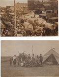 Western Expansion:Goldrush, Real Photo Postcards: Two Oklahoma Scenes.... (Total: 2 Items)