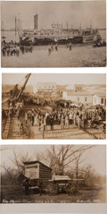 Western Expansion:Goldrush, Real Photo Postcards: Three Oklahoma Scenes,... (Total: 3 Items)
