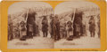 Photography:Stereo Cards, Albumen Stereoview: Indian Domestic Life in the Pawnee Village, ...