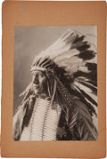 Photography:Studio Portraits, Silver Gelatin Print: Buffalo Bill Cody's Wild West Indian Police....