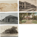 Western Expansion:Goldrush, Real Photo Postcards: Five California Railroad Train DepotScenes.... (Total: 5 Items)