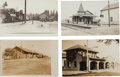 Western Expansion:Goldrush, Real Photo Postcard: Four Railroad Train Depot Scenes.... (Total: 4Items)