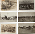 Western Expansion:Goldrush, Real Photo Postcards: Wyoming Stagecoach & Wagon Scenes,...(Total: 6 Items)