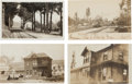 Transportation:Railroad, Real Photo Postcards: Four California Depot Scenes,... (Total: 4Items)
