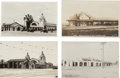Transportation:Railroad, Real Photo Postcards: Four California Train Depot Scenes, ...(Total: 4 Items)