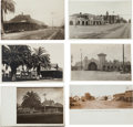 Transportation:Railroad, Real Photo Postcards: Six California Train Depot Scenes,. ...(Total: 6 Items)
