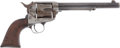 Handguns:Single Action Revolver, Fine Single Action Colt Army Revolver, Shipped to Famed El Paso Merchants Ketelson and Degetau in 1888, the Wood Grips with Ni...