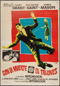 "Movie Posters:Hitchcock, North by Northwest (Filmayer, S.A., 1959). Spanish One Sheet (27.5""X 39.25'). Hitchcock.. ..."