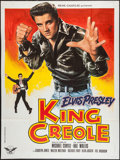 """Movie Posters:Elvis Presley, King Creole (RC Editions, R-1978). French Grande (47"""" X 63"""") &Promotional Flyer (8.25"""" X 10.5""""). Elvis Presley.. ... (Total: 2Items)"""