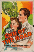 """Movie Posters:Crime, End of the Road (Republic, 1944). One Sheet (27"""" X 41""""). Crime....."""