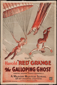 """The Galloping Ghost (Mascot, 1931). One Sheet (27"""" X 41""""). Serial"""